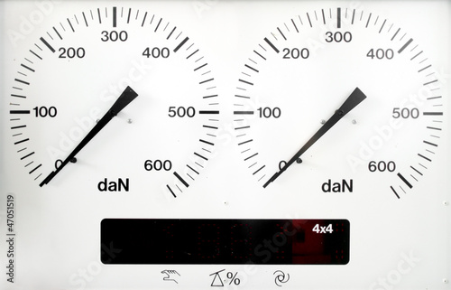 panel control meter of car braking test
