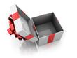 Opened present box