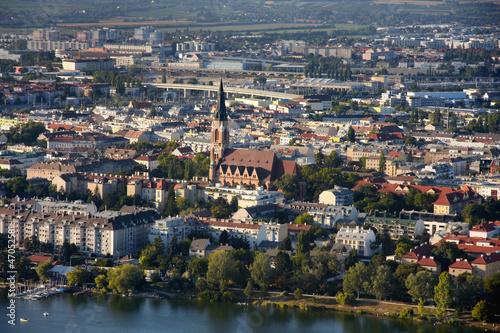 View on Pfarre St. Leopold – Donaufeld, Vienna from Donauturm