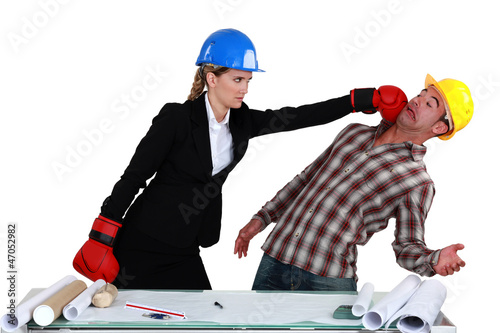 Co-workers fighting