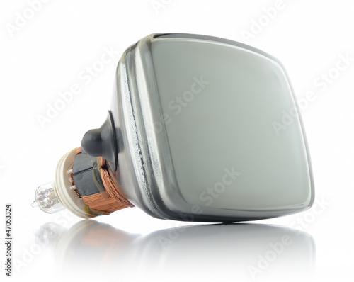 Old television tube on withe background - 47053324