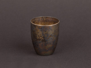 Very old trophy cup isolated