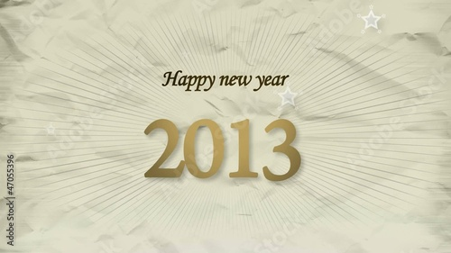 Happy New Year 2013 animation champain color video greetings