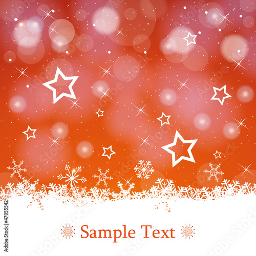 Abstract Christmas background orange