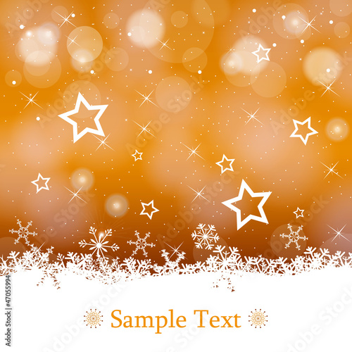 Abstract Christmas background gold