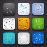 background for the app icons-water drop part