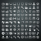 100 vector metallic icons