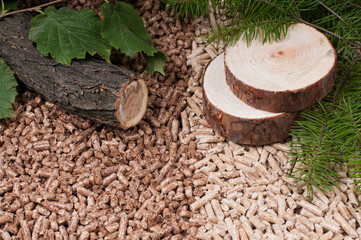 Pine and oak pellets