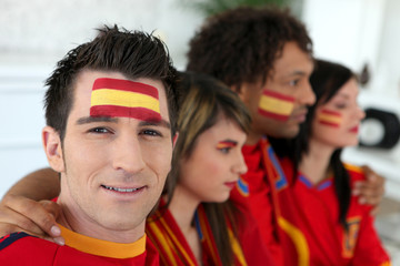 Two Spanish couples gathered to watch the football