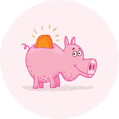 Cheerful Piggy Bank