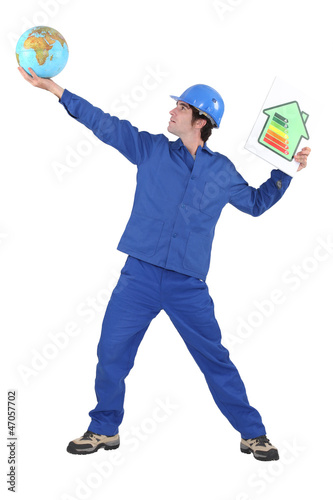 Tradesman reaching for the stars
