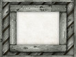 Template background - paper sheet on wooden frame