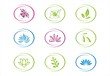 abstract nature icons, Eco friendly business logo design