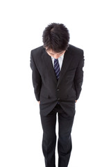 young businessman with a bow