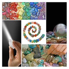 Crystal healing collage