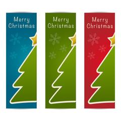 Merry Christmas banner design vertical set