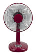 Red electric fan to reduce hot weather