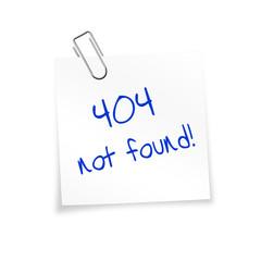 Notizzettel weiß mit Büroklammer - 404 not found!