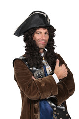 man dressed as a pirate