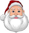 Santa Smiling Face front