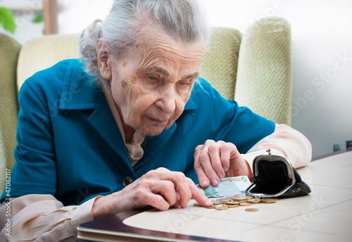 Leinwanddruck Bild Altersarmut