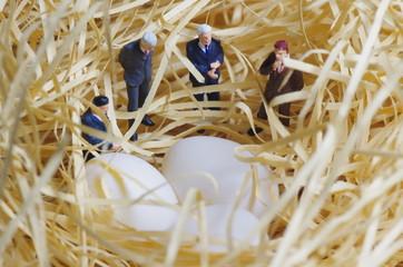 卵とビジネスマンたち