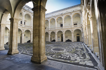 europe, italy, sicily, catania university palace