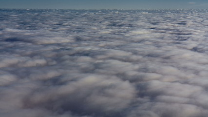 clouds view from above