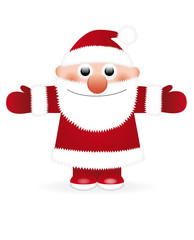 weihnachtsmann mit roter nase
