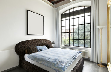 beautiful house, interior, view of the bedroom