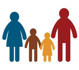 family sign, vector illustration
