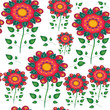 Seamless naive floral vector repeat background EPS 10