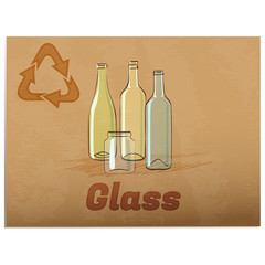Recycling glass memo