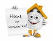 Kleines 3D Haus Orange - Haus zu vermieten!