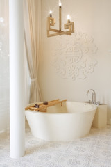 Fragment like image of nice modern  bathroom