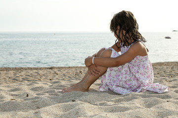 portrait of girl on the beach