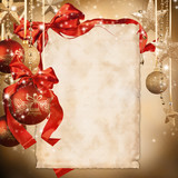 Fototapety  Christmas celebration theme with blank paper for text