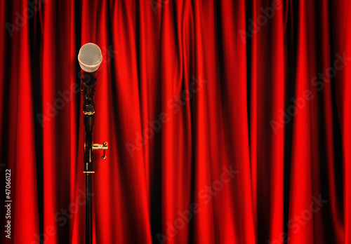 microphone stage curtains