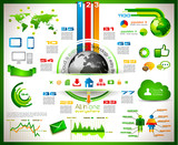 Infographic with Cloud Computing concept