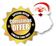 "Star-shaped Sticker ""Christmas Offer"""
