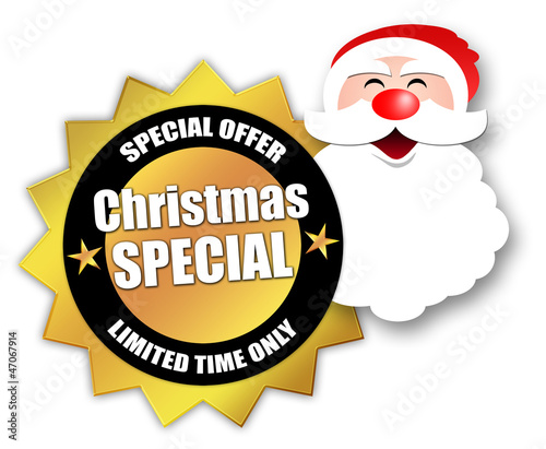 "Star-shaped Sticker ""Christmas Special"""