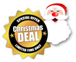 "Star-shaped Sticker ""Christmas Deal"""