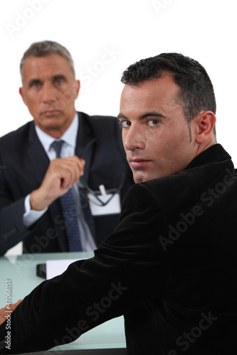 Man having one-to-one with boss