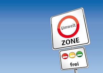 Umweltzonen-Schild Vektor Illustration