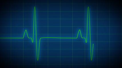 EKG Heart Monitor blue