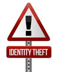 identity theft sign