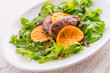 Liver with onion-orange sauce