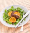 Liver with onion-orange sauce