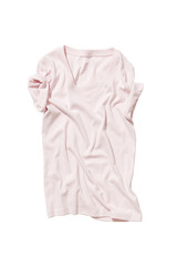 Rose crumpled t-shirt isolated