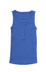 Blue singlet isolated